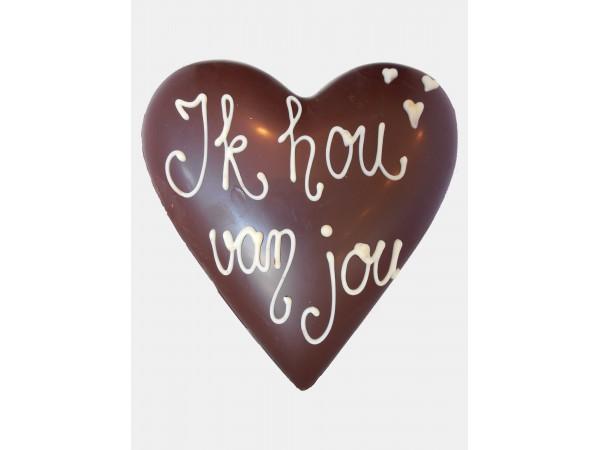 Chocolade Hart Holfiguur