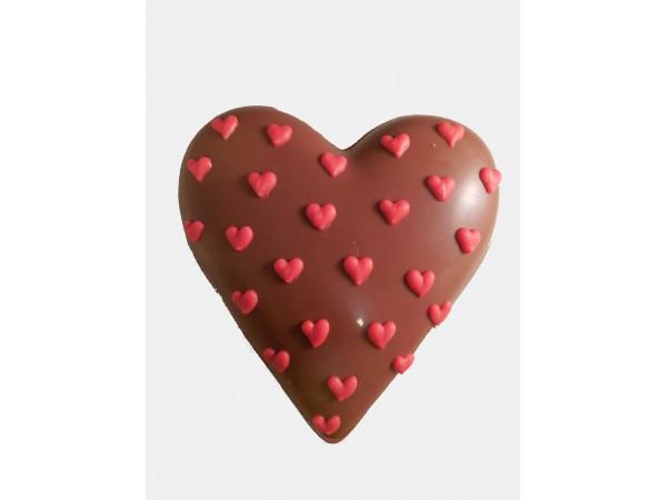 Hart 9 cm met hartjes