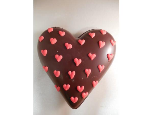 Hart 11 cm met hartjes