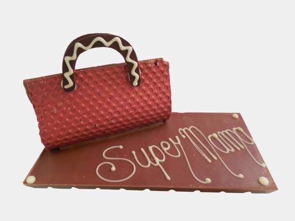 Reep Met Handtas En Tekst: Super Mama