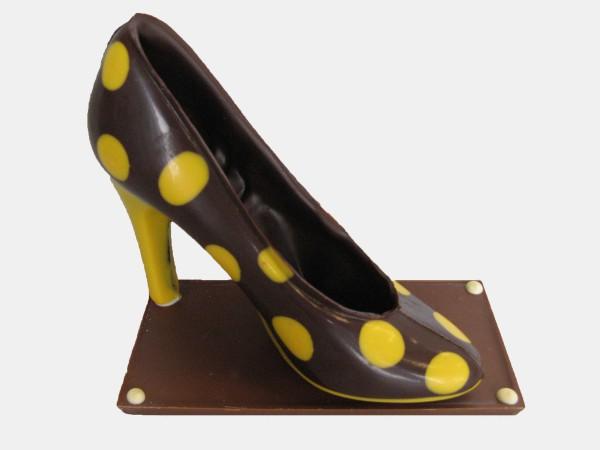 Pump zwart geel