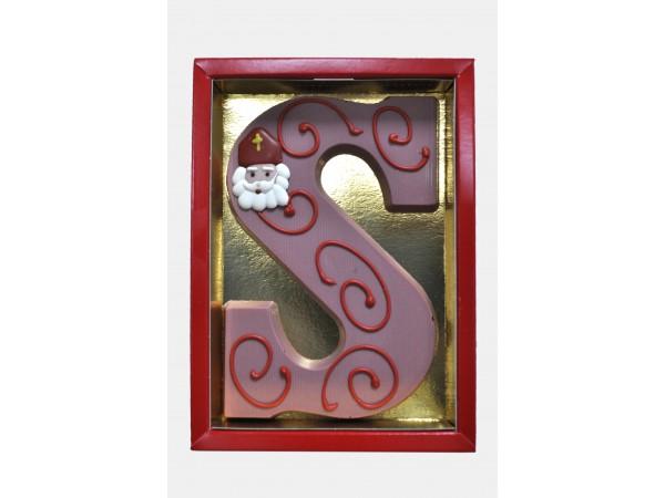 Sinterklaas Letter S - 250 Gram Ruby Chocolade