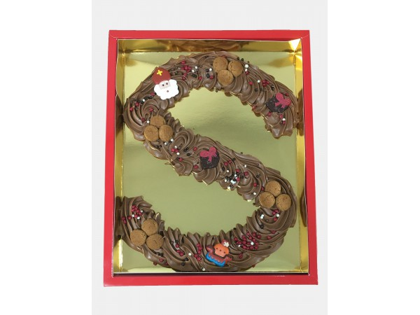Sinterklaas Letters S - 500 Gram Spuitchocolade