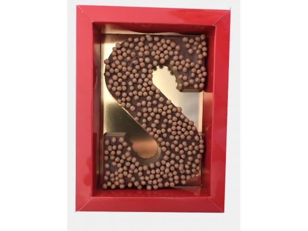 Sinterklaas Letter A - Z, 250 gram caramel zeezout