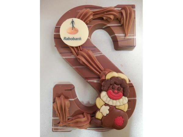 Sinterklaas letter A - Z, 250 gram met logo