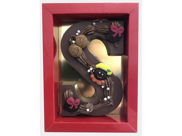 Sinterklaas Letter A - Z, 250 gram massief luxe