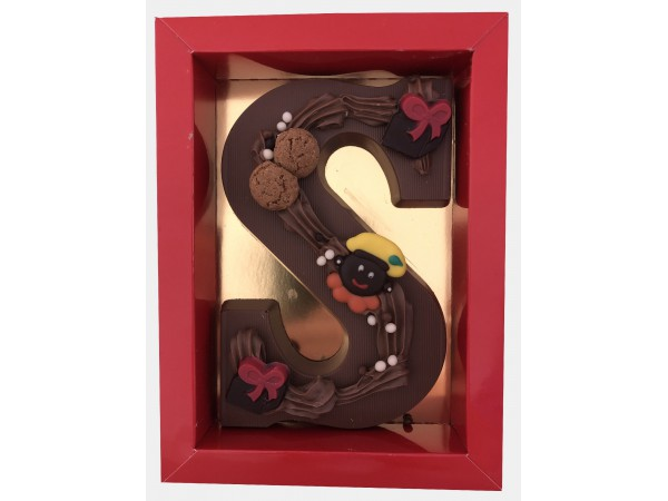 Sinterklaas Letter A - Z, 250 gram praline chocolade