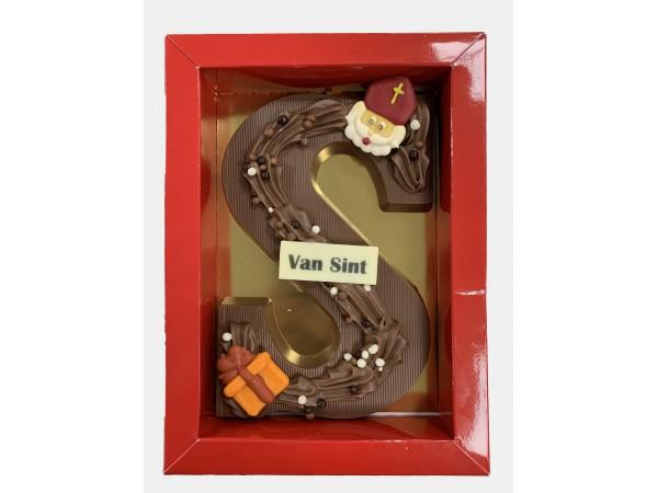 Sinterklaas Letters A - Z 250 Gram Massief Luxe