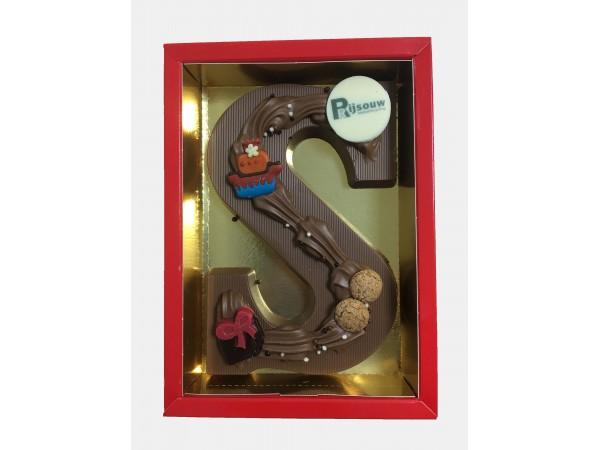 Sinterklaas Letters A - Z 250 Gram Met Logo