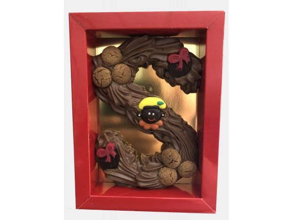 Sinterklaas Letter A - Z, 275 gram gespoten chocolade