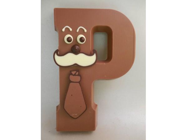 Letter P met gezichtje