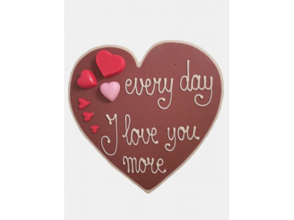 Valentijn hart Every day I love you more