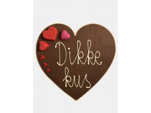 Valentijn hart Dikke kus