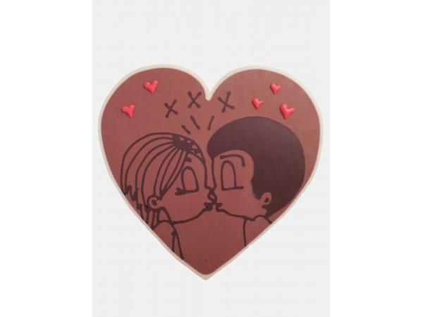 Valentijn hart kussend paartje