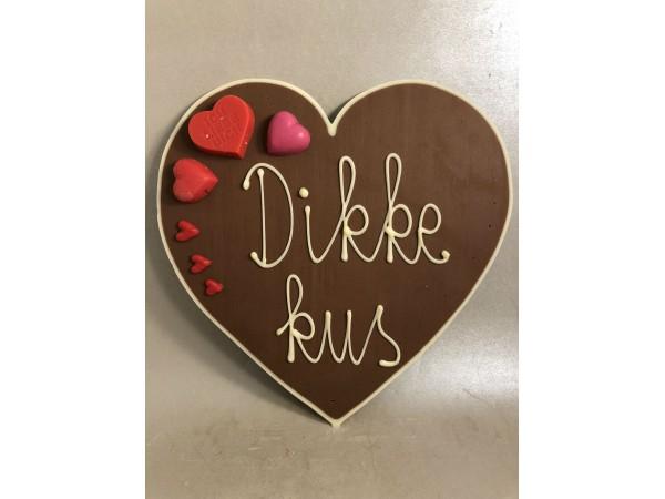 Valentijnshart Dikke kus