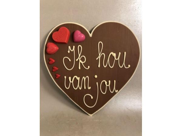 Valentijnshart Ik hou van jou