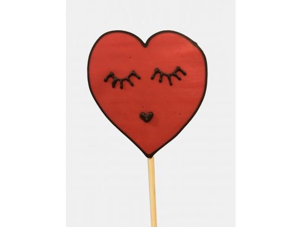 Lolly hartvormig kus