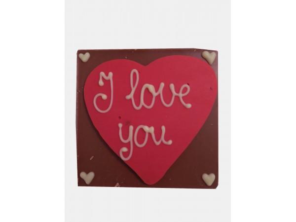 Chocolatebar Hart / I Love You