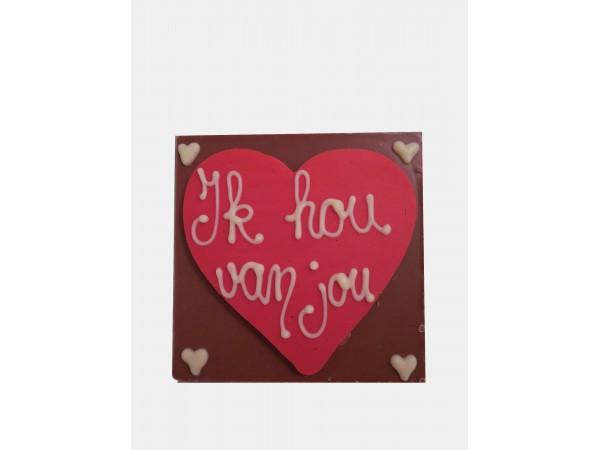 Chocolatebar Hart / Ik Hou Van Jou
