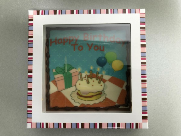 """Bar in box """"Happy birthday to you"""""""