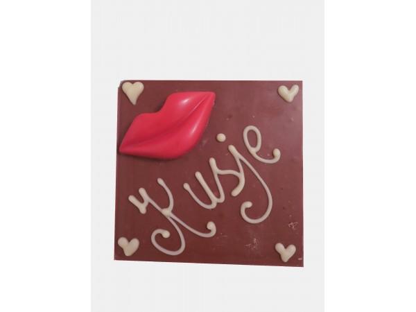 Chocolatebar Lippen / Kusje