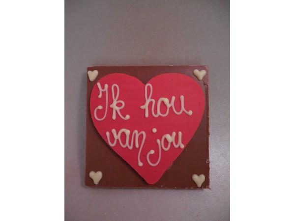 Chocolatebar (hart) Ik hou van jou